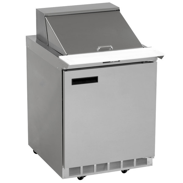 "Delfield UC4427N-9M 27"" 1 Door Mega Top Reduced Height Refrigerated Sandwich Prep Table"