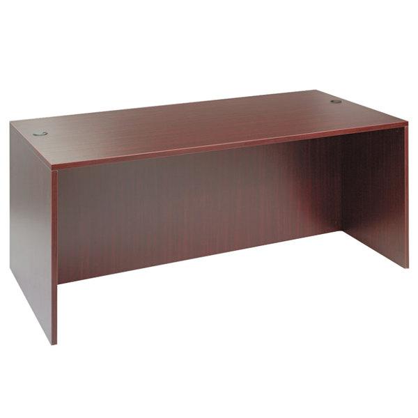 """Alera ALEVA217236MY Valencia 71"""" x 35 1/2"""" Mahogany Straight Front Desk Shell"""