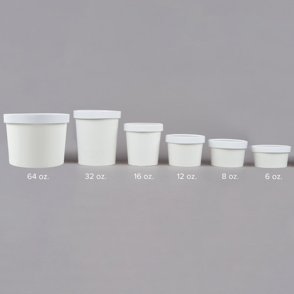 for sale online Take out White Paper Soup Hot Cold Food Togo Cup With Vented Lid 250 Ct 16 Oz