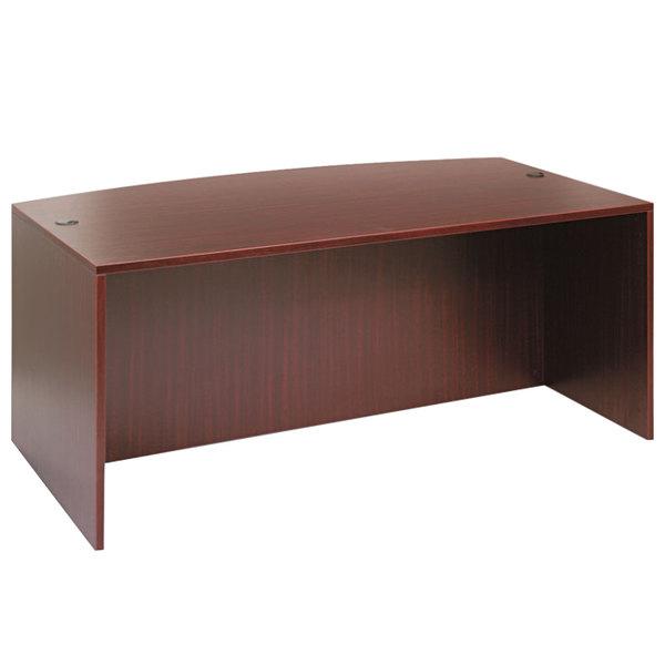 """Alera ALEVA227236MY Valencia 71"""" x 41 3/8"""" Mahogany Bow Front Desk Shell"""