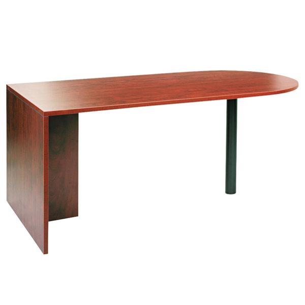 """Alera ALEVA277236MC Valencia 71"""" x 35 1/2"""" Medium Cherry D Top Desk"""