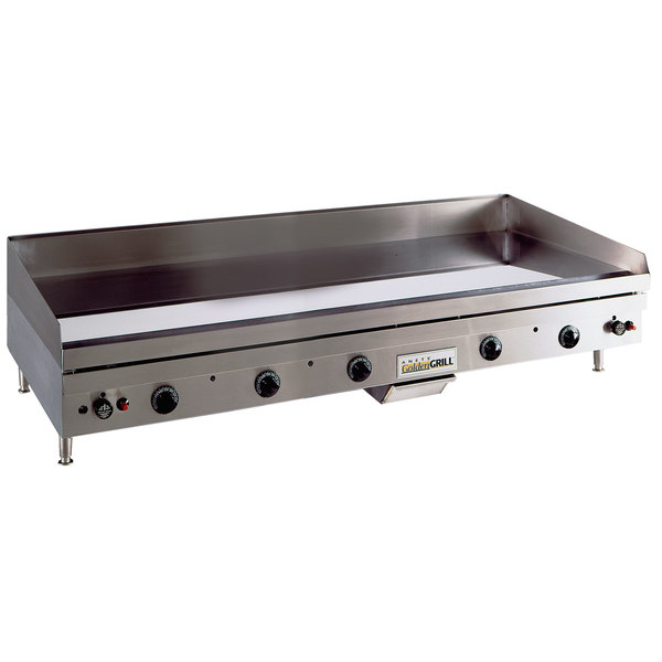 "Anets TM24X60 Temp Master 60"" Natural Gas Countertop Griddle with Thermostatic Controls - 137,500 BTU Main Image 1"