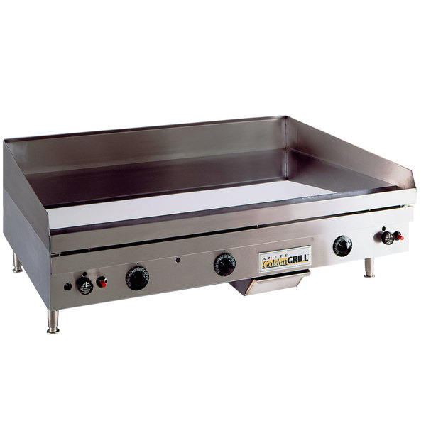 """Anets TM24X36 Temp Master 36"""" Liquid Propane Countertop Griddle with Thermostatic Controls - 82,500 BTU Main Image 1"""