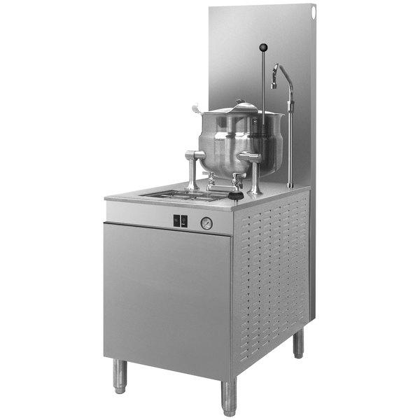 Cleveland 24-GM-K6-200 Natural Gas 6 Gallon Tilting 2/3 Steam Jacketed Kettle with Modular Generator Base - 200,000 BTU