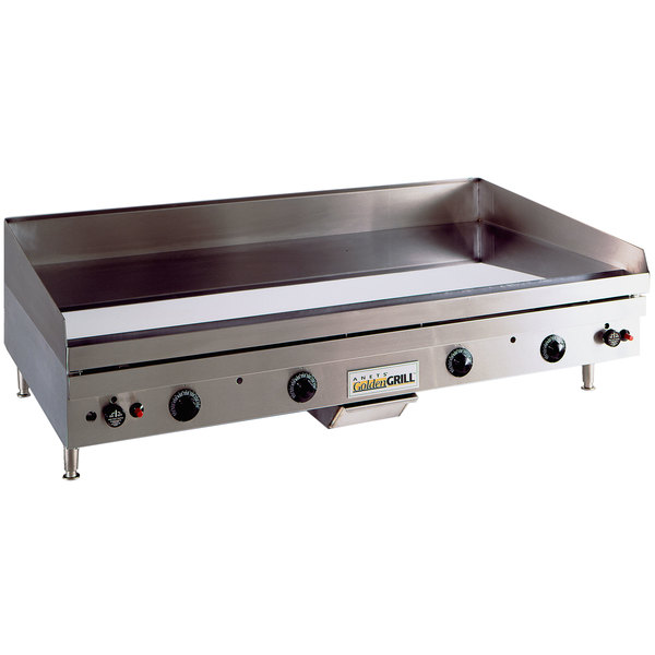 """Anets TM24X48 Temp Master 48"""" Natural Gas Countertop Griddle with Thermostatic Controls - 110,000 BTU"""
