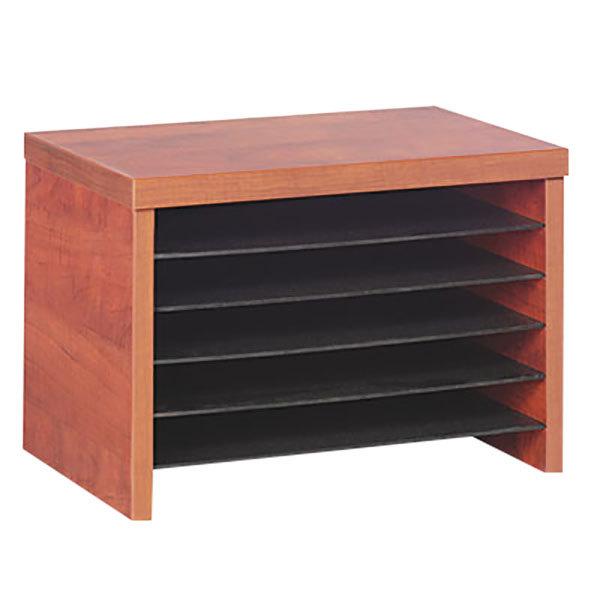 "Alera ALEVA316012MC Valencia 15 3/4"" x 10"" x 11"" Medium Cherry File Organizer Shelf Main Image 1"