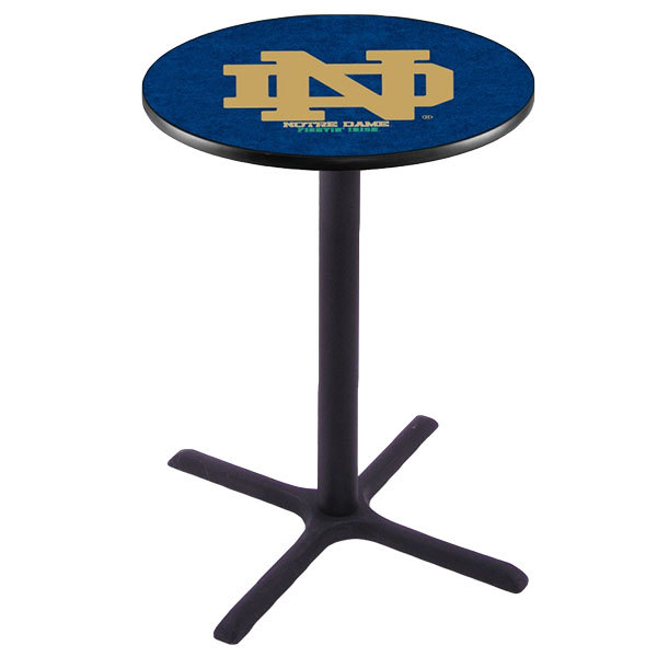 """Holland Bar Stool L211B4228ND-ND 28"""" Round University of Notre Dame Bar Height Pub Table"""