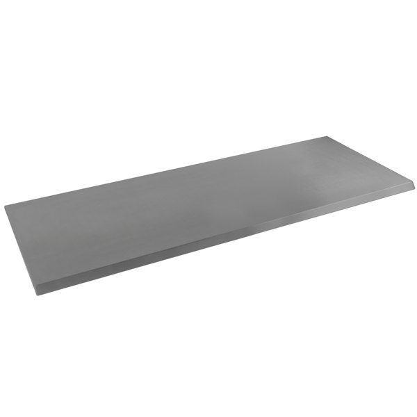 """Anets D5907-15-C 24"""" x 8"""" Stainless Steel Cutting Board with Bracket"""