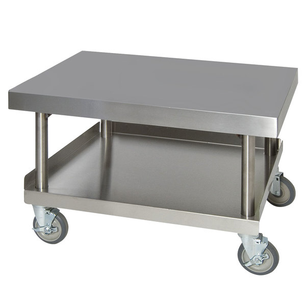 """Anets AGS30X36 30"""" x 36"""" Stainless Steel Griddle Stand with Undershelf Main Image 1"""