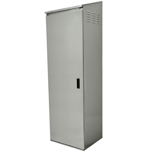 "Advance Tabco CAB-1-300 Single Door Type 300 Stainless Steel Standing Cabinet - 25"" x 22 5/8"" x 84"""