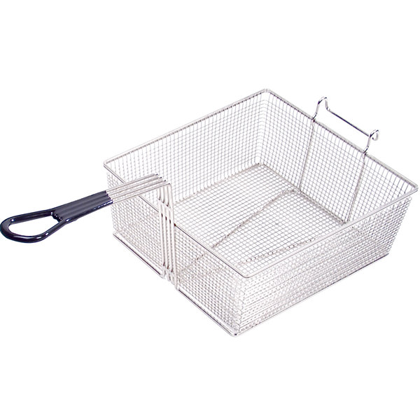 """Anets P9800-54 17 3/4"""" x 16 3/4"""" x 6"""" Full Size Fryer Basket with Front Hook Main Image 1"""