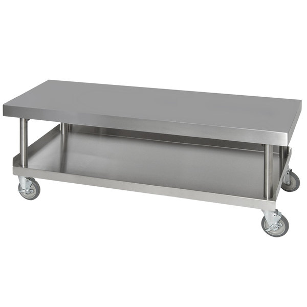 "Anets AGS24X72 24"" x 72"" Stainless Steel Griddle Stand with Undershelf"