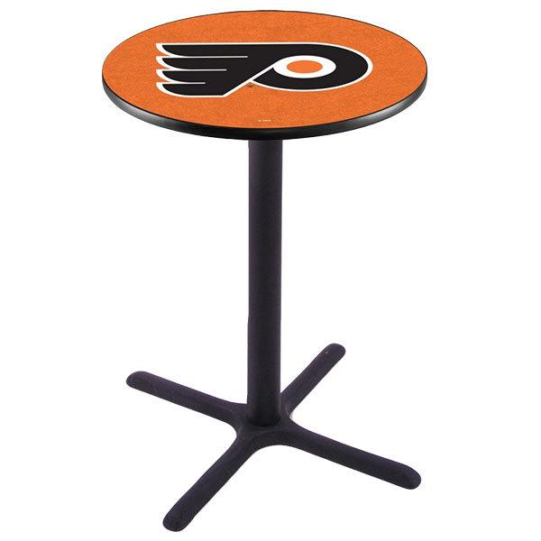 "Holland Bar Stool L211B4228PHIFLY-O 28"" Round Philadelphia Flyers Bar Height Pub Table"