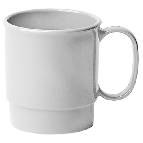 Cambro 75CW148 Camwear 7.5 oz. White Polycarbonate Stacking Mug - 48/Case
