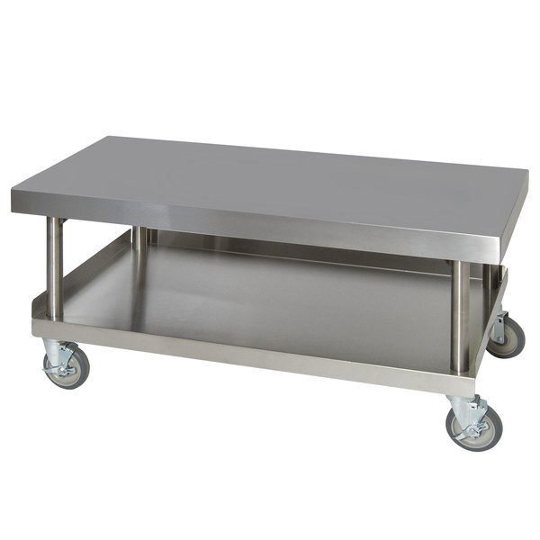 """Anets AGS24X48 24"""" x 48"""" Stainless Steel Griddle Stand with Undershelf"""