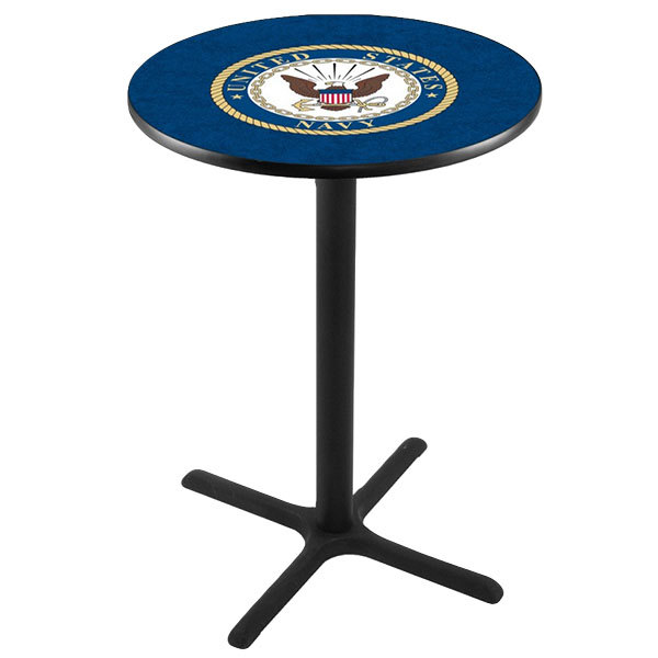 "Holland Bar Stool L211B4228NAVY 28"" Round United States Navy Bar Height Pub Table Main Image 1"