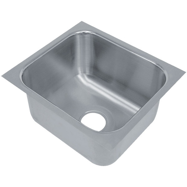 "Advance Tabco 2020A-14A 1 Compartment Undermount Sink Bowl 20"" x 20"" x 14"""
