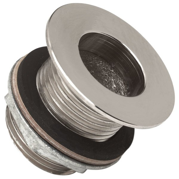 """Advance Tabco A-11 1 1/2"""" Stainless Steel Waste Outlet - 6/Pack"""