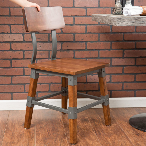 Lancaster Table U0026 Seating Rustic Industrial Dining Side Chair
