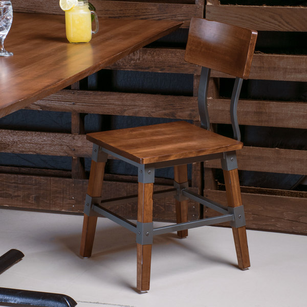 Lancaster Table & Seating Rustic Industrial Dining Side Chair
