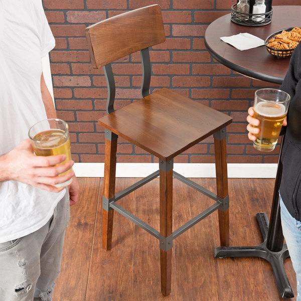 Lancaster Table U0026 Seating Rustic Industrial Bar Height Chair