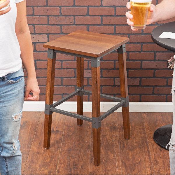 lancaster table u0026 seating rustic industrial backless bar stool