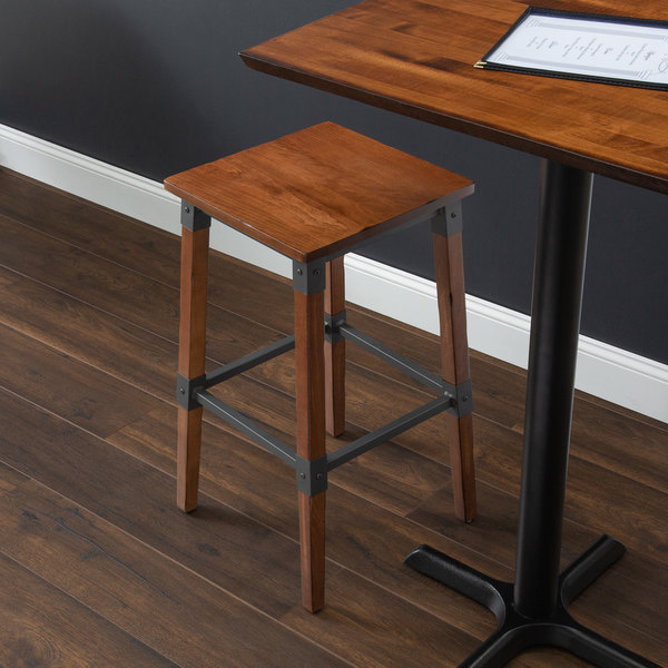 Lancaster Table Seating Rustic Industrial Backless Bar Stool