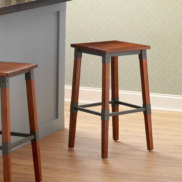 Awe Inspiring Lancaster Table Seating Rustic Industrial Backless Bar Stool With Antique Walnut Finish Pdpeps Interior Chair Design Pdpepsorg