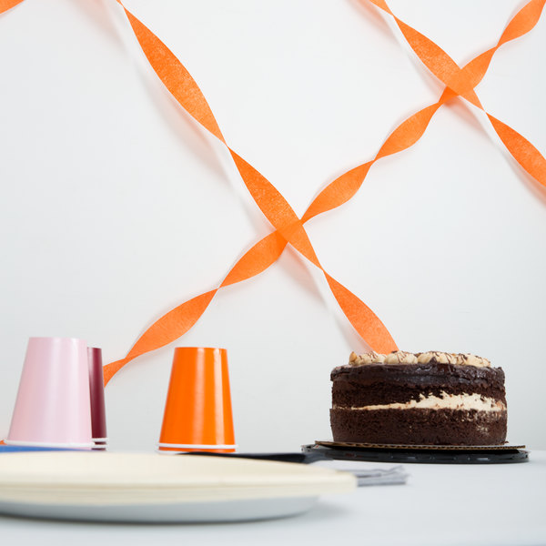 Creative Converting 078560 81' Sunkissed Orange Streamer Paper