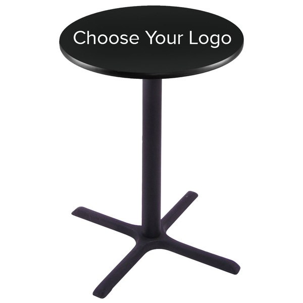 "Holland Bar Stool 28"" Round Logo Pub Table"
