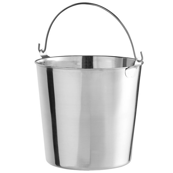 Stainless Steel Bucket 13 Quart Stainless Steel Utility Pail