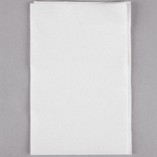 SCA DX900 Tork Advanced Xpressnap White Interfold 8 1/2 inch x 13 inch Dispenser Napkin - 500/Pack