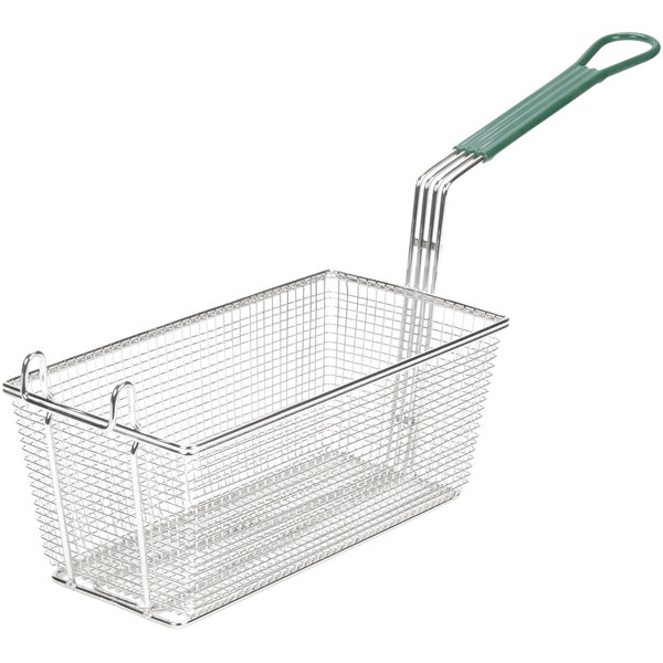 """13"""" x 6 1/2"""" x 5 1/4"""" Fryer Basket with Front Hook"""
