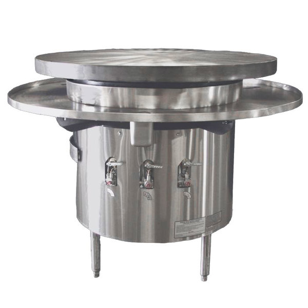 """Town MBR-48 Natural Gas 48"""" Flat Top Mongolian Barbeque Range"""