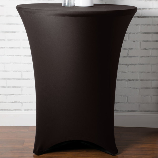 """Marko EMB5026HT36633 Embrace 36"""" Round Dark Lava Bar Height Spandex Table Cover"""