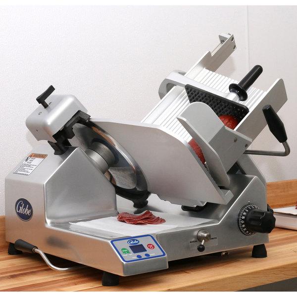"Globe S13A 13"" Heavy-Duty Automatic Meat Slicer - 1/2 hp Main Image 3"
