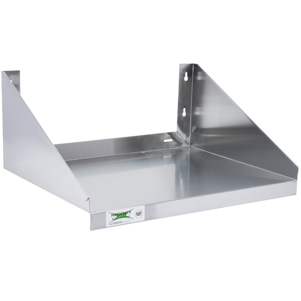 Maximize The E In Your Kitchen With Regency 24 X 18 Stainless Steel Microwave Shelf