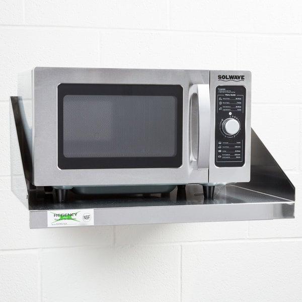 "Regency 24"" x 18"" Stainless Steel Microwave Shelf"