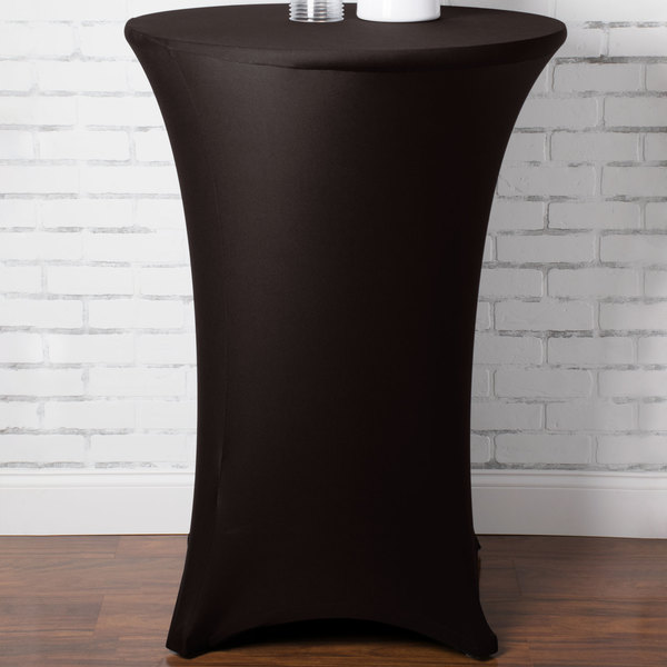 """Marko EMB5026HT30633 Embrace 30"""" Round Dark Lava Bar Height Spandex Table Cover"""