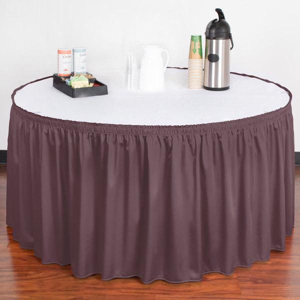 "Snap Drape WYN1V17629-VIO Wyndham 17' 6"" x 29"" Violet Shirred Pleat Table Skirt with Velcro® Clips"