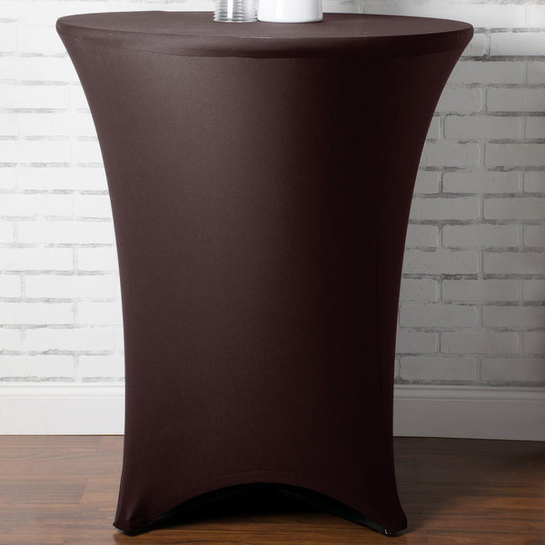 """Marko EMB5026HT36515 Embrace 36"""" Round Chocolate Bar Height Spandex Table Cover"""