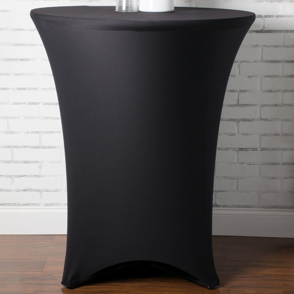 Marko Emb5026ht36014 Embrace 36 Round Black Bar Height Spandex Table Cover