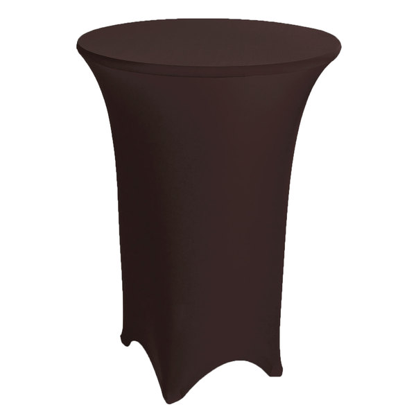 "Marko EMB5026HT48515 Embrace 48"" Round Chocolate Bar Height Spandex Table Cover"