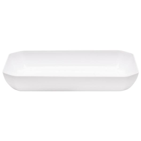 Cambro SFG1015148 White ShowFest Octagonal Serving Bowl 3.5 Qt. - 6/Case