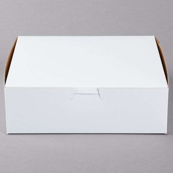 Pack of 5 Black Cat Avenue 14 x 14 x 6 White Cake Boxes Non-Window Paperboard Pie Box Lock Corner Pastry Box Bakery Boxes 5 Count