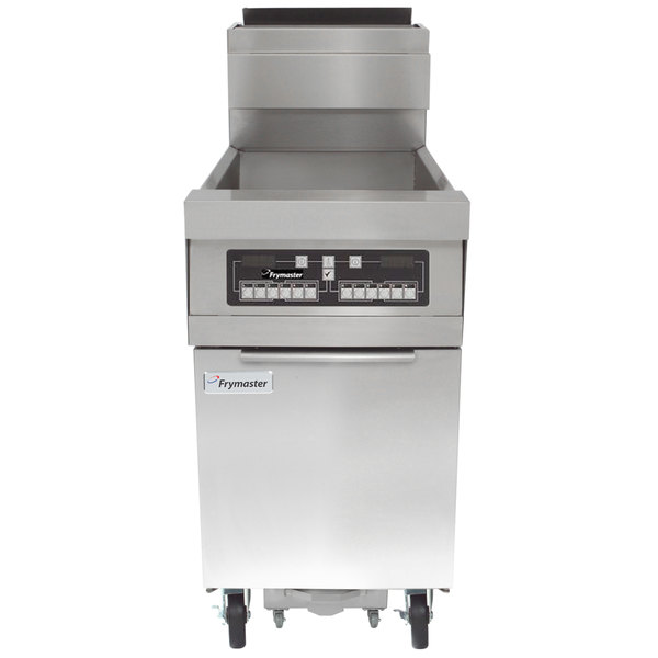 Frymaster HD160G Natural Gas 80 lb. High-Efficiency Floor Fryer with CM3.5 Controls - 125,000 BTU