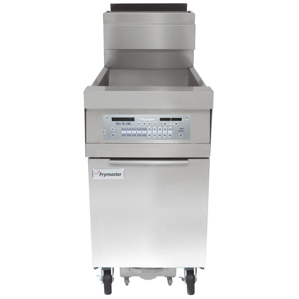 Frymaster HD150G Natural Gas 50 lb. High-Efficiency Floor Fryer with Thermatron Controls - 100,000 BTU Main Image 1