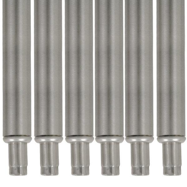 "Advance Tabco TA-20-6 34 1/2"" Stainless Steel Legs - 6/Set"