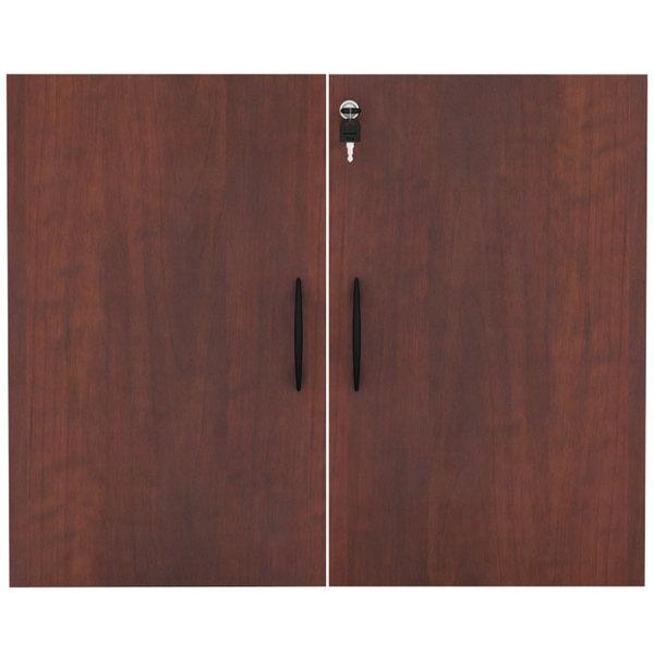 """Alera ALEVA632832MC Valencia Series 31 1/4"""" Cherry Cabinet Door Set"""