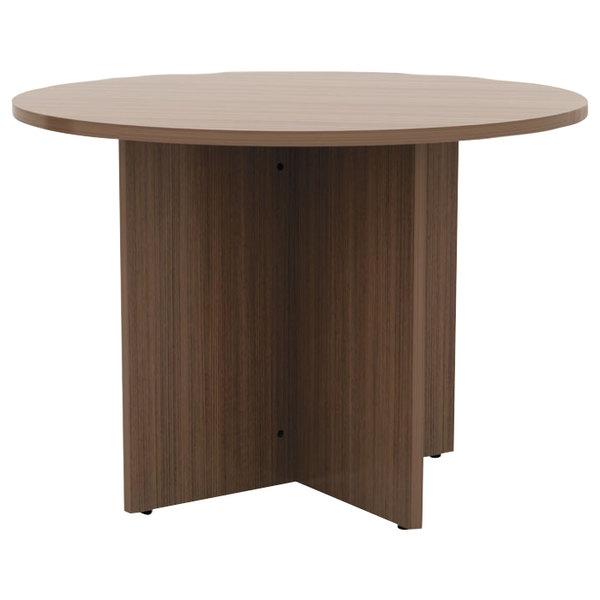 "Alera ALEVA7142WA Valencia 42"" Round Modern Walnut Conference Table Main Image 1"